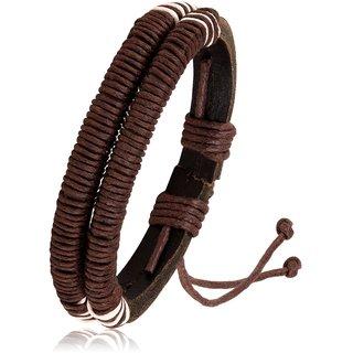 Asmitta Stylish Mens Multi Strip Bracelet For Men