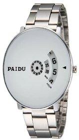 Paidu Best New Paidu White Watch For Men ,Boys New Looking Watch In Latest Designing Stylist Analog Watch 6 Month Warranty