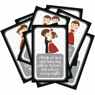 SC Set of 8 Exciting Lives Love Story Romantic Love Cards - for Birthday, and Valentine Day
