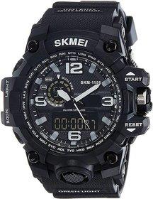 Skmei Round Dail Black Plastic StrapMens Quartz Watch For Men