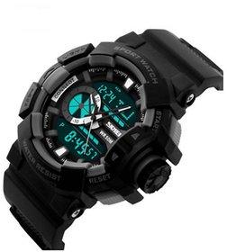 SKMEI Analog-Digital Black Dial Men's Watch-AD1155