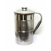 Handmade 1.6 Litre Copper Steel Water Jug Pitcher with