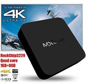 Tech Gear 4K Android Tv Box, MXQ Pro 4K Ultra HD TV Box, Android 5.1, 64Bit Media Streaming Device Smart Quad Core Set Top Box