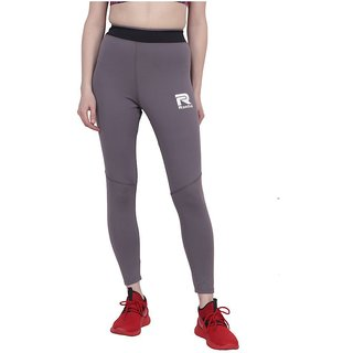 RAEDIAL Grey Polyester Lycra Trackpants