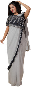 Designer Saree (Grey)
