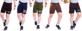 Kavin's Cotton Trendy Shorts for boys,Pack of 5, Multicolored, Combo Pack of 5