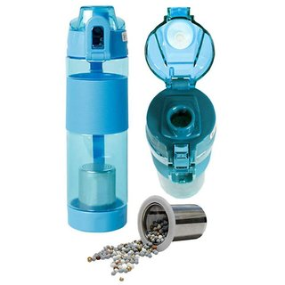 DAHUF Alkaline Water Bottle for Healthy and Fit Blue 600 mL Plastic Water Bottle set of 1