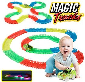 G-TRADE Magic Race Bend Flex and Glow Tracks-220 Pieces