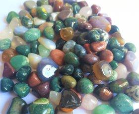 Multicolor Natural Stone Pebble Crystal Gravel Flowerpot Fish Tank Aquarium-500g