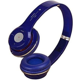 esportic S460 Foldable On Ear Wireless Stereo Bluetooth Headphones Supports MP3 Compatible with all Smartphones  blue  Bluetooth Headset