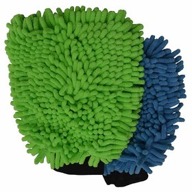 Microfiber Double Sided Microfiber Hand Gloves Car Window Washing Kitchen Dust Cleaning Glove Assorted Colors