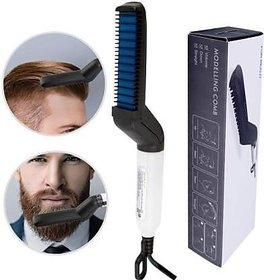 Hair Styler for Men Electric Beard Straightener Massage Hair Comb Beard Care Comb Multifunctional Curly Hair Straightening Comb Curler For DIY Flexible Modeling