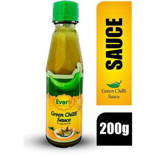 Everin Zingy and Zesty Green Chilli Sauce (200g, Pack of 1)