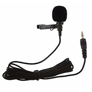 Stookin 3.5MM Clip On Mini Lapel Lavalier Microphone for Android/iOS Device (Black)