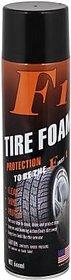 F1 Tire foam 600 ml Wheel Tire Cleaner  (Pack of 1)