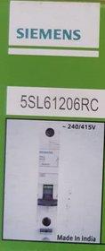 SIEMENS MCB 16A SINGLE POLE B CURVE5SL61206RC