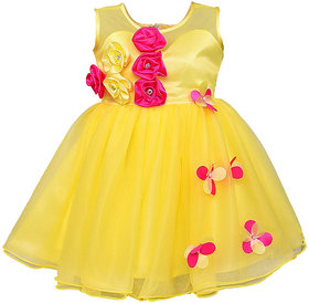 Clobay Net Flower party dress for girls