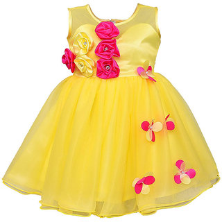 Clobay Net Flower party dress for girls