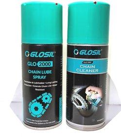 GLOSIL Chain Lube 150ml  Chain Cleaner 140ml Spray for Bikes Chain Oil
