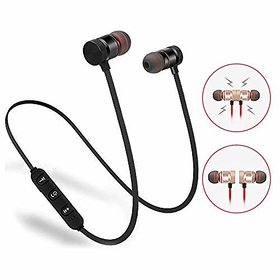 Sports Magnet bluetooth Headphone Wireless Bluetooth Headphone  Wireless Headphone  Bluetooth Stereo Headphone  Bluetooth Headphone  Gym Headphone Sports Headphone  Travelling HeadphonesBluetooth Headset with mic