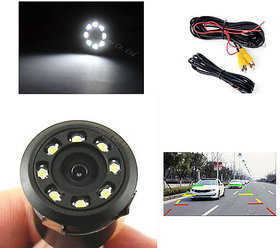 Working 8 LED Night Vision Reverse Parking Car Waterproof Camera Wide View