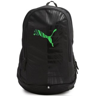 Puma Graphics Black Green Laptop Backpack