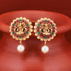 Sukkhi Sober Gold Plated Goddess Laxmi Earring for Women