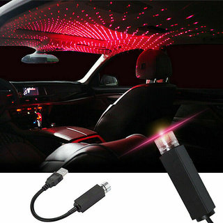 Car USB Ambient Star Light, Romantic Auto Roof Star Projector Lights usb Universal Fit All Cars
