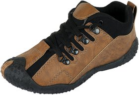 Liboni Men's Brown Synthetic Leather Casual Shoes