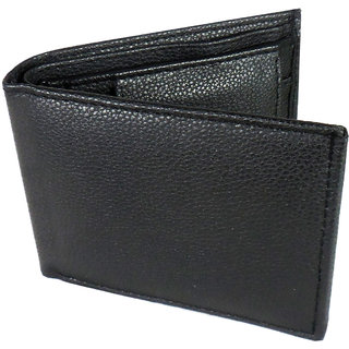 Evermore Black Artificial Leather Men's Wallet (Synthetic leather/Rexine)