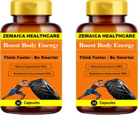 Zemaica Healthcare Energy booster - Enhance Strength  Stamina (60) capsules pack of 2
