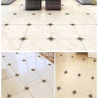 EJA Art Multicolor PVC Rangoli floor Stickers pack of 20 Pcs (LxBxH-20 cm x 1 cm x 20 cm)