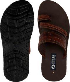 Blue Pop Men's Brown Slippers
