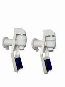 PBROS 2 Pieces Water Dispenser Plastic(Blue) Handle White Tap for Water Filters