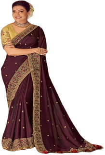 SBSK Women's Fashion Kajal 1105 Designer Saree With Unstitched Blouse (Kimora Saree)