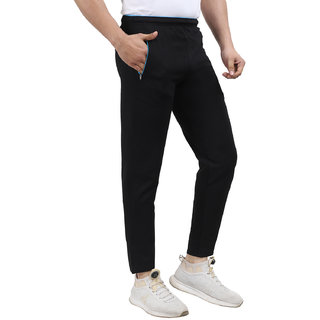 NSZO Solid Black Track Pant for Men