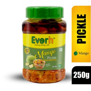 Everin Homemade Tasty Tangy and Ticklish Mango Pickle (250 gm)