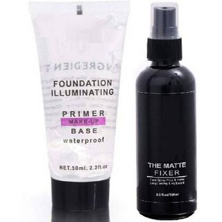 Anytime Shops Makeup Face Primer With Matte Fixer Face Primer Spray