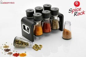 6 pcs  Multipurpose Spice Rack Plastic  and Space Savvy Dining Table Spice Rack for Kitchen,