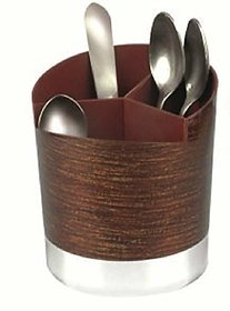 Vessel Crew (Cozy) Multi Functional Self Draining Organizer Wood Finish - Spoons,Cutlery Storage Holder Stand