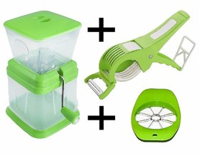 Vessel Crew (onion combo )Combo of Cutter with Peeler for Vegetable and Fruits, Apple Cutter, Onion Chopper