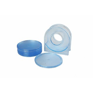 Vessel Crew Table Coaster with Stand (Colour May Vary) - Set of 6