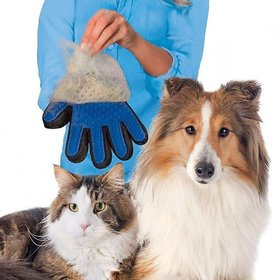 Nucleya Retail Animal Massage Hair Removal Dog Grooming Shedding Brush Gloves  Hair Remover Gloves for Dog  Cat