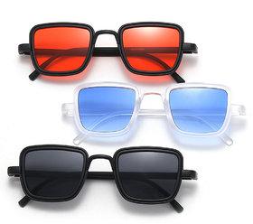 Adam Jones UV Protected Red  Blue  Black Exclusive Sunglasses Combo of 3