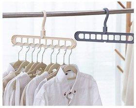 JonPrix Multi-Port Clothes Hanger Drying Rack Multifunction Plastic Scarf Hangers Storage Racks