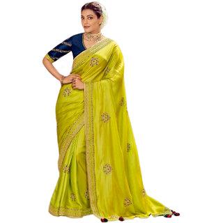 SBSK Women's Fashion Kajal 1103 Designer Saree With Unstitched Blouse (Kimora Saree)