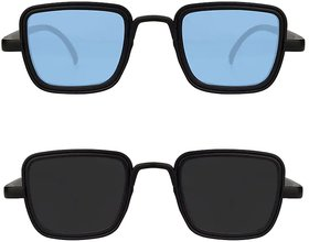 Kabir Singh Blue Black Exclusive Sunglasses Combo of 2