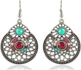 Sanaa Creations Fashion Jewellery Earrings for Girls Fancy Party Wear Earrings for Women Sapphire Alloy Hoop Earring, Drop Earring