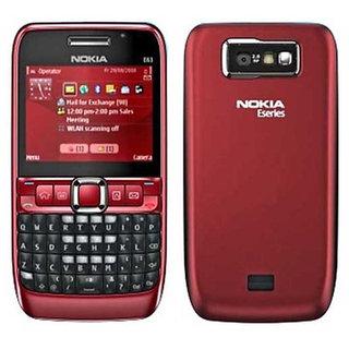 Refurbished Nokia E63 Mobile Phone Red