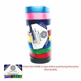 L A C E S T Y L E S, LS Satin Ribbons, 1/2-inch x10M Each, 100M (Multicolour) - Set of 10 (Multi, 10)